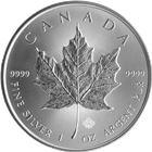 2015 Canadian Silver Maple Leaf Coin 1 oz