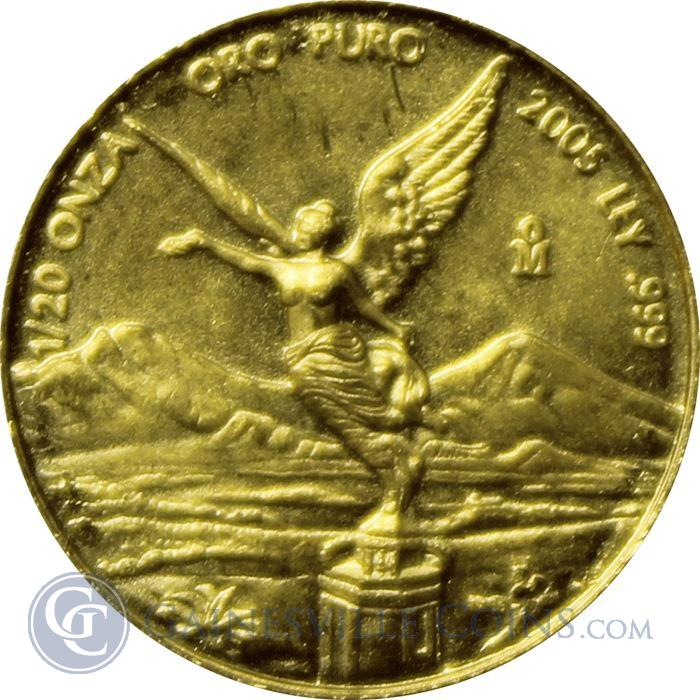 Image Showcase for 2005 1/20 oz Mexican Gold Libertad