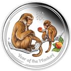 2016 1/2 oz Monkey Silver Proof Colorized Coin - Australia (With Box and COA)
