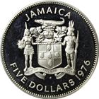 Jamaica $5 Proof Silver Coin - Norman W. Manley (1.2335 oz of Silver)