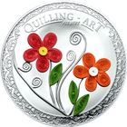 2016 Quilling Art Flowers 1/2 oz Silver Proof Coin - $2 Cook Islands
