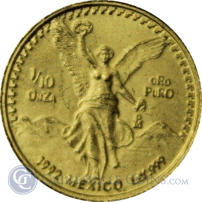 Image Showcase for 1992 Mexico 1/10 oz Gold Libertad