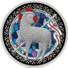 Lamb of God 1 oz Proof Silver Round - Colorized (With Stained Glass Effect)