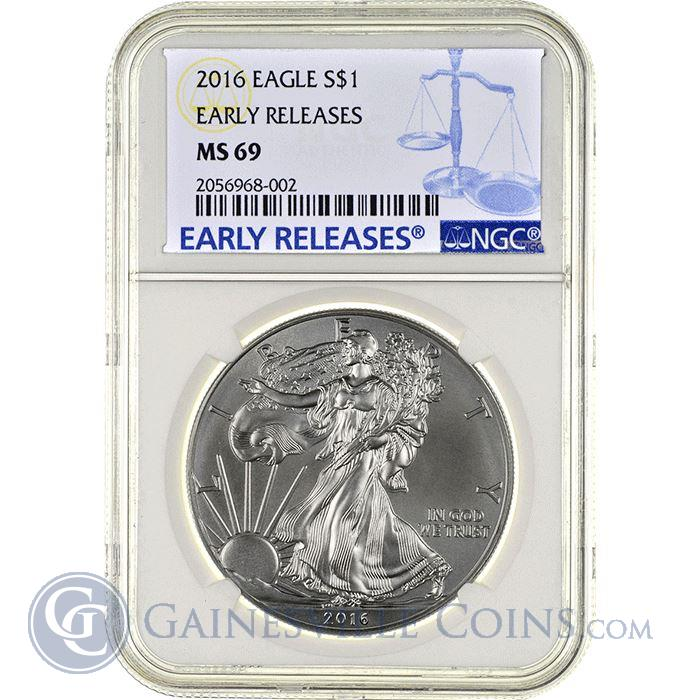 Image Showcase for 2016 American Silver Eagle NGC MS69 Early Releases