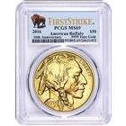 2016 $50 American Gold Buffalo PCGS MS69 First Strike