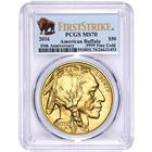 2016 $50 American Gold Buffalo PCGS MS70 First Strike