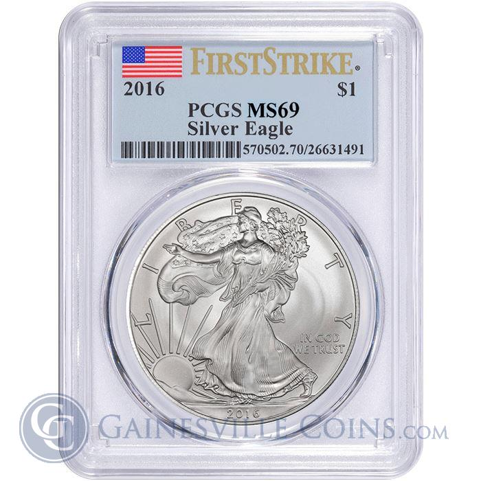 Image Showcase for 2016 American Silver Eagle PCGS MS69 First Strike