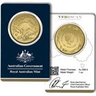 2016 1 oz Gold Kangaroo in VeriScan Assay Card - Royal Australian Mint (.9999 Fine)