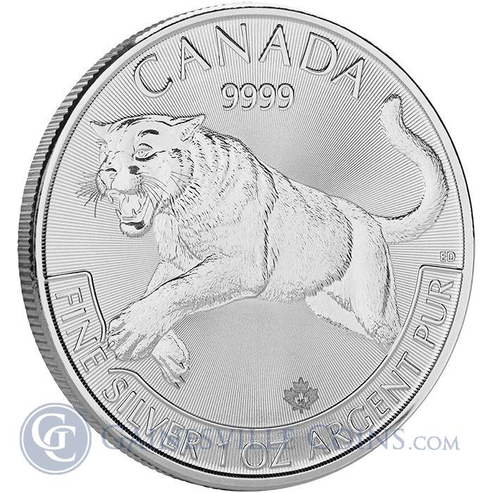 Image Showcase for 2016 1 oz Canadian Mint Silver Cougar - Predator Series