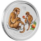 2016 1 oz Colorized Silver Monkey Australia Perth Mint