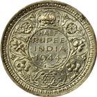 1942-1944 British-India Half Rupee Silver Coin (.0939 oz of Silver)