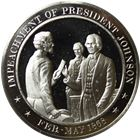 Impeachment Of President Johnson Proof Sterling Silver Round (1.15 oz ASW)