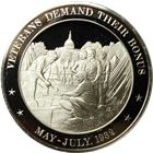 Veterans Demand Their Bonus Proof Sterling Silver Round (1.10 oz ASW)