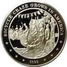 Bicycle Craze Grows In America Proof Sterling Silver Round (1.13 oz ASW)