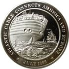 Atlantic Cable Connects America And Europe Proof Sterling Silver Round