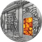 2015 Amber Room Masterpieces In Stone 3 oz Antique Finish Silver Coin - Fiji $10