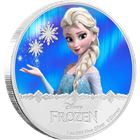 2016 Disney Frozen Elsa 1 oz Proof Silver $2 Niue (With Box and COA)