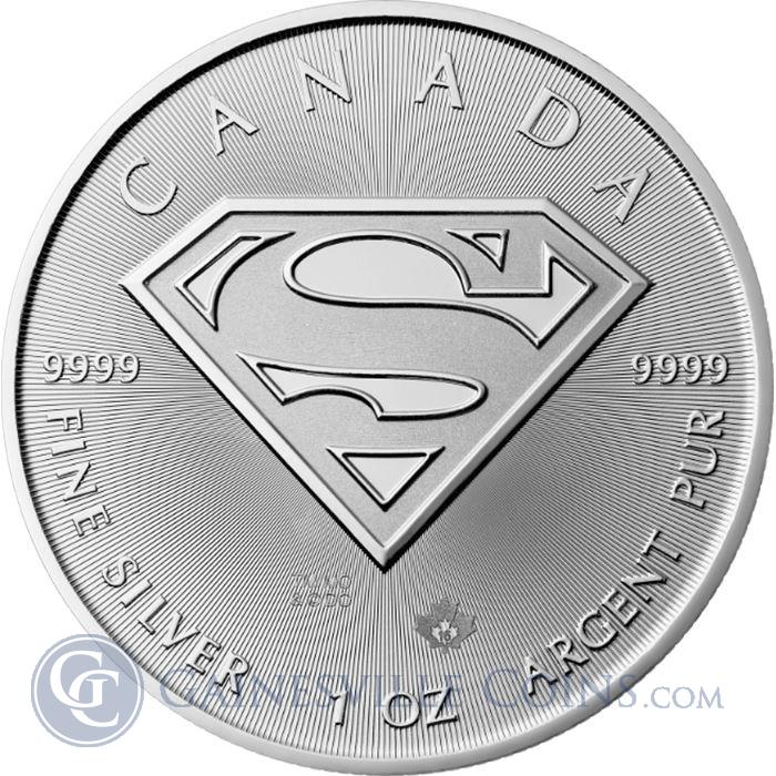 Image Showcase for 2016 Superman S-Shield 1 oz Canadian Silver Maple Leaf - Brilliant Uncirculated