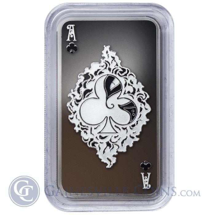 Image Showcase for 2015 1 oz Tokelau Ace of Clubs Laser Cut Proof Silver Coin .999 Fine Limted Edition
