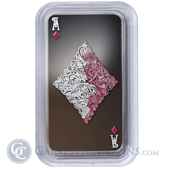 Image Showcase for 2015 1 oz Tokelau Ace of Diamonds Laser Cut Proof Silver Coin .999 Fine Limted Edition