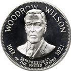 Woodrow Wilson 28th President Proof Sterling Silver Round (.99 oz ASW)