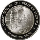 Great Seal Of The State Of Florida Proof Sterling Silver Round (.99 oz ASW)