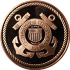 United States Coast Guard Copper Round - 1 AVDP Ounce (.999 Pure)