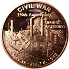 150th Anniversary Of Vickburg Civil War Copper Round - 1 AVDP Ounce (.999 Pure)