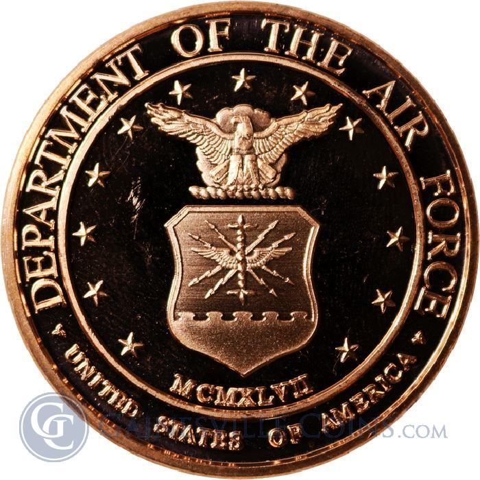 Image Showcase for Department Of The Air Force Copper Round - 1 AVDP Ounce (.999 Pure)