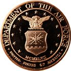 Department Of The Air Force Copper Round - 1 AVDP Ounce (.999 Pure)