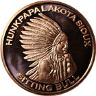 Sitting Bull Copper Round - 1 AVDP Ounce (.999 Pure)