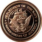 US Navy Copper Round - 1 AVDP Ounce (.999 Pure)