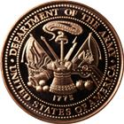US Army Copper Round - 1 AVDP Ounce (.999 Pure)