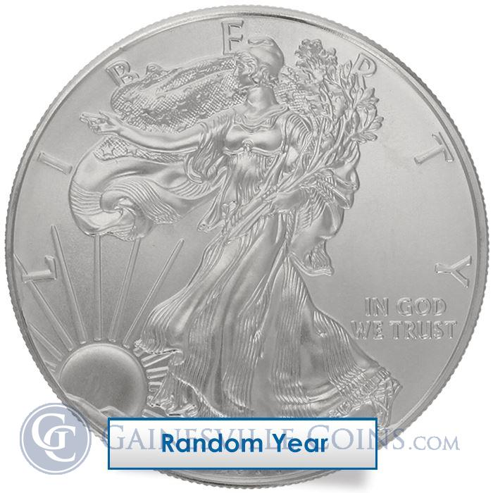 Image Showcase for 1 oz American Silver Eagle - Spotted