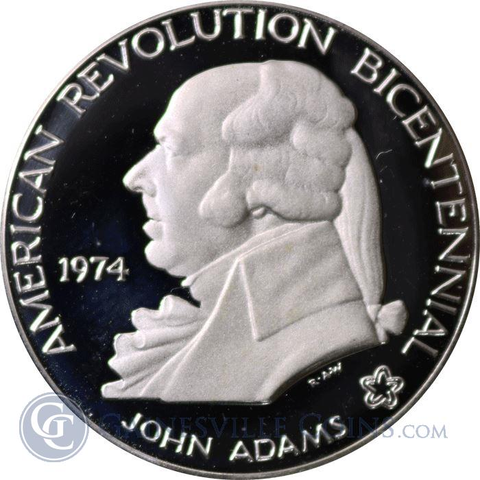 Image Showcase for 1974 John Adams American Revolution Proof Sterling Silver Round (.93 oz ASW)
