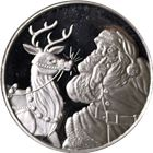 1995 Merry Christmas Santa 1 oz Silver Round (.999 Pure)