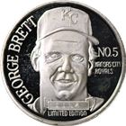 George Brett 300th Career Hit 1 oz Silver Art Round (999 Pure)