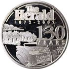The Herald 130 Years 1 oz Silver Art Round (.999 Pure)