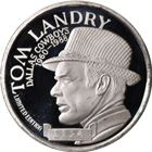 Tom Landry Dallas Cowboys 1 oz Silver Art Round (999 Pure)
