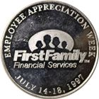 First Family Financial Services MVP 1 oz Silver Art Round (.999 Pure)