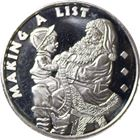 Making A List 1 oz Silver Round (.999 Pure)