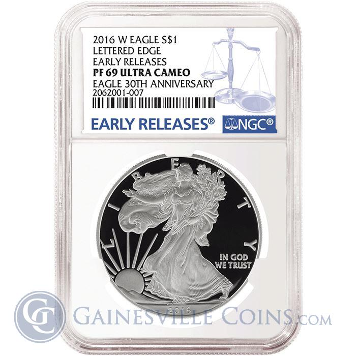 Image Showcase for 2016-W American Proof Silver Eagle NGC PF69 Early Release