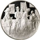 The History Of The American Indian Bosin Proof Sterling Silver Round (.93 oz ASW)