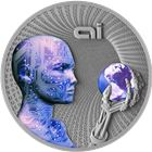 2016 Artificial Intelligence 2 oz Silver Coin Niue $2 - Code Of The Future