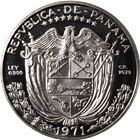 1971 Panama Proof Silver 1 Balboa - (.77 oz of Silver)