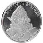 2016 Season's Greetings 1 oz Silver Round - Merry Christmas Santa Claus (.999 Fine)