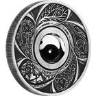 2016 Yin Yang Silver Coin - With Rotating Charm (Tuvalu 1 Dollar)