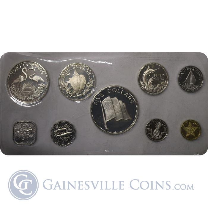 Image Showcase for 1974 Bahamas 9-Coin Proof Set
