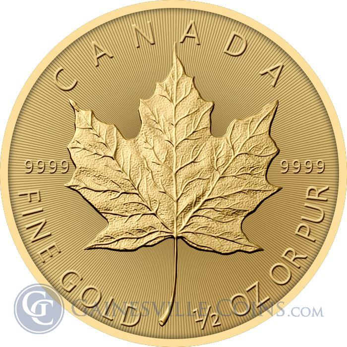 Image Showcase for 2017 1/2 oz Gold Canadian Maple Leaf Coin