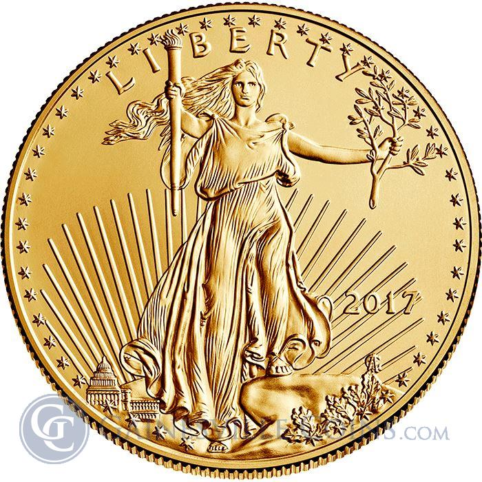 Image Showcase for 2017 1/10 oz Gold American Eagle - Brilliant Uncirculated